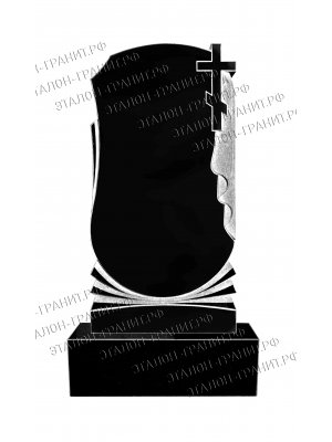 Гранитный памятник одинарный PO-025