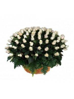 Корзина из живых цветов 2 (розы)