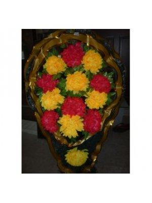 Корзина из искусственных цветов 39