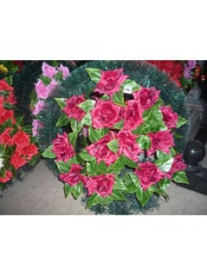 Корзина из искусственных цветов 46