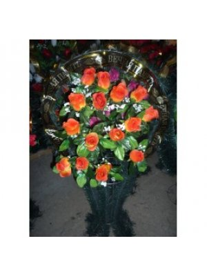 Корзина из искусственных цветов 47