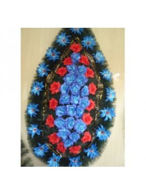 Венок из искусственных цветов 80