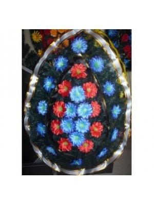 Венок из искусственных цветов 84