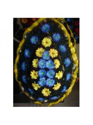 Венок из искусственных цветов 85