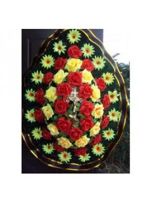 Венок из искусственных цветов 86