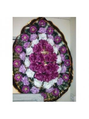 Венок из искусственных цветов 87