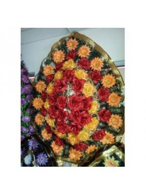 Венок из искусственных цветов 88
