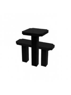 Гранитные стол и лавочка GSL_02
