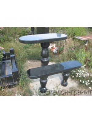 Гранитные стол и лавочка GSL_10