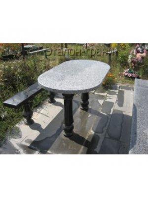 Гранитные стол и лавочка GSL_11